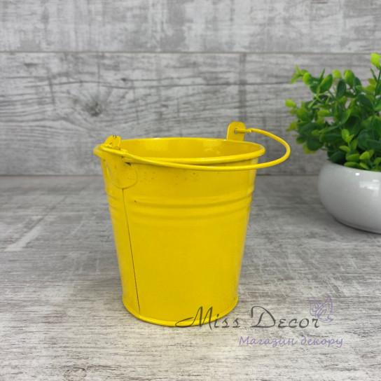 Ведро метал colors желтое PY8012